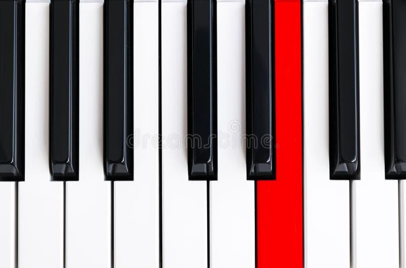 Ideia superior de chaves do piano Close-up de chaves do piano vista frontal próxima Teclado de piano com foco seletivo Vista supe ilustração do vetor