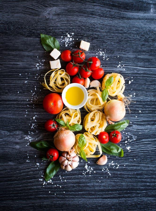 Ideia superior de todo o componente necessário do alimento para fazer-me a um clássico foto de stock