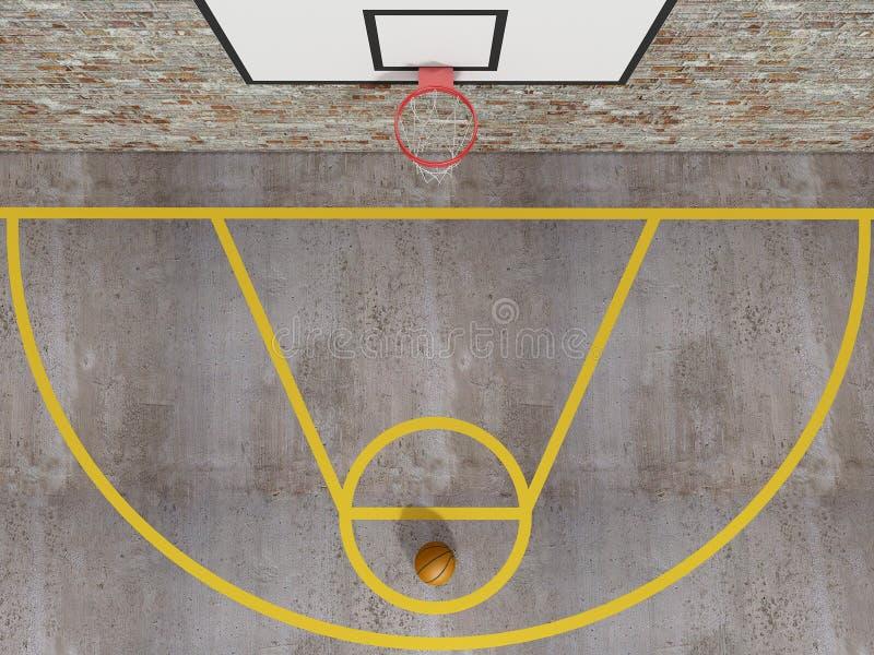 Ideia superior do basquetebol da rua ilustração stock