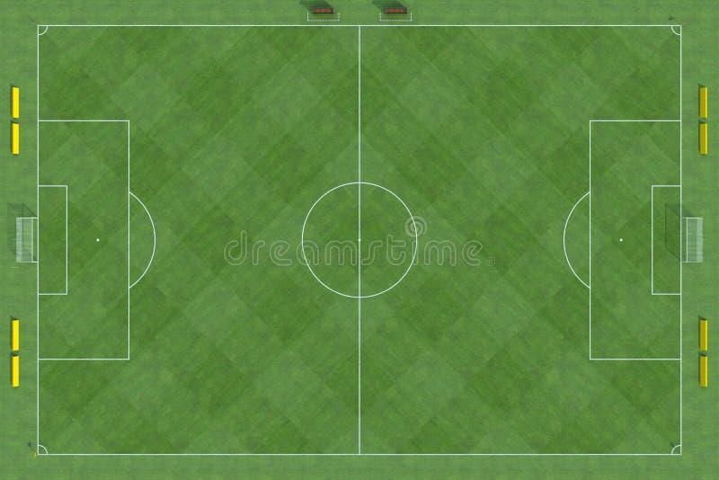 Ideia superior do campo de futebol ilustração stock