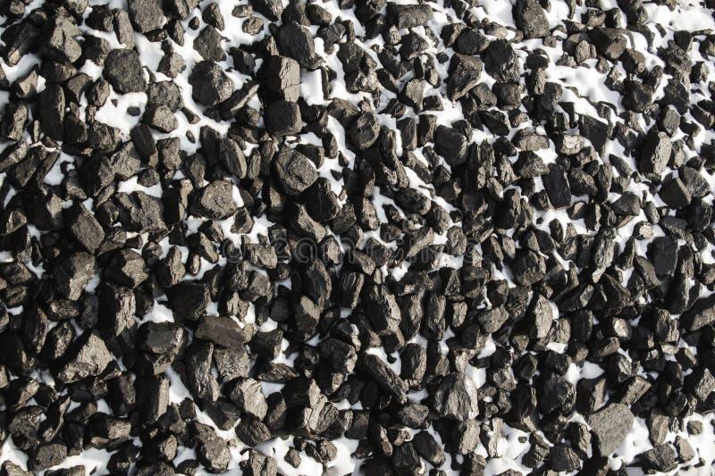 Ideia superior do preto mineral do depósito da mina de carvão para o fundo Usado como o combustível para o carvão industrial imagem de stock royalty free