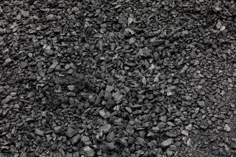 Ideia superior do preto mineral do depósito da mina de carvão para o fundo Usado como o combustível para o carvão industrial imagem de stock