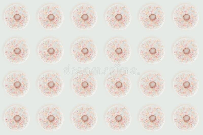 ideia superior do teste padrão sem emenda das filhóses vitrificadas do branco ilustração royalty free