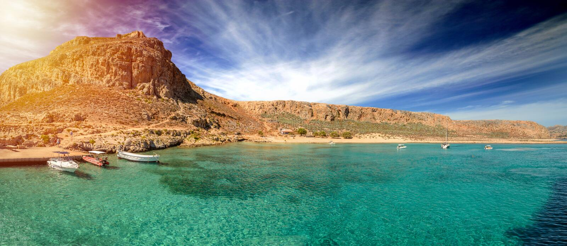 Ideia surpreendente do ¡ de GramvousÃ, Creta, Grécia imagens de stock