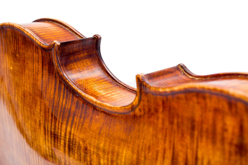 Ideia traseira de um ataque do centro do violino imagens de stock