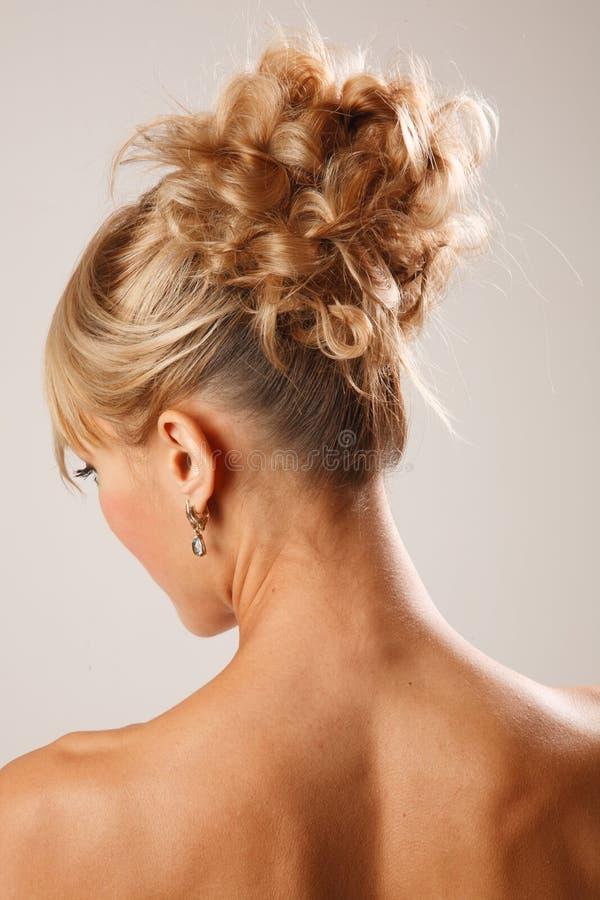 Ideia traseira do penteado nupcial imagem de stock royalty free