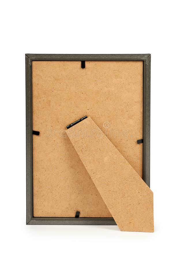 Ideia traseira do quadro da foto isolada no fundo branco fotografia de stock