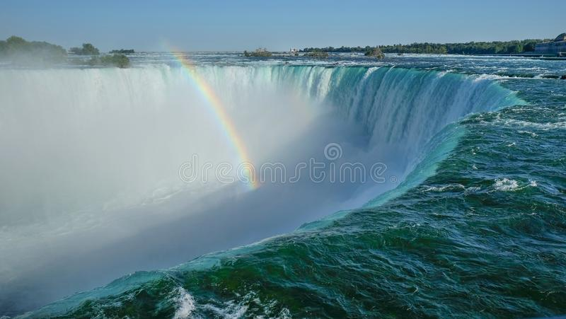 Ideia unabstracted próxima da borda do penhasco de Niagara Falls do lado canadense fotografia de stock royalty free