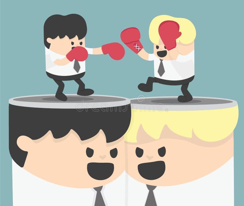 Ideias controversas ilustração do vetor