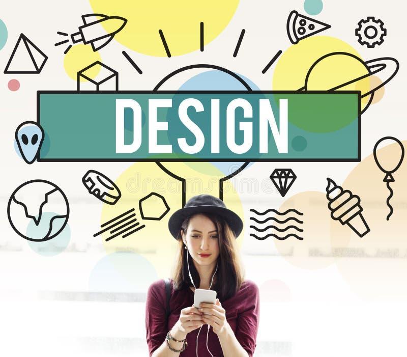 Ideias criativas Planning Plan Concept modelo do esboço do projeto ilustração royalty free