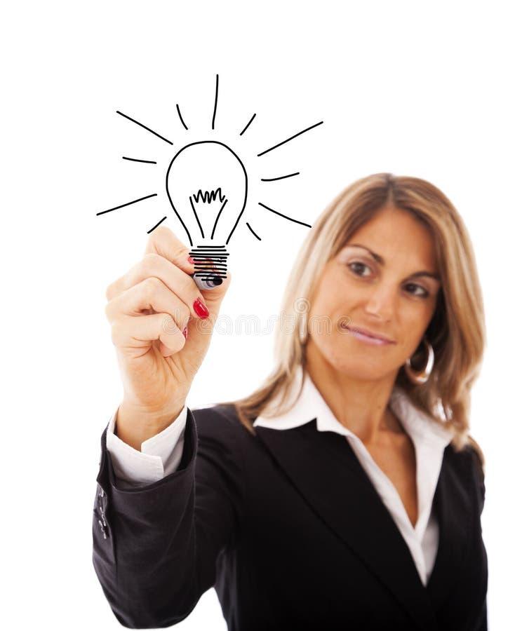 Ideias da mulher de negócios fotos de stock