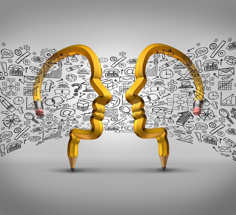 Ideias da parceria ilustração do vetor