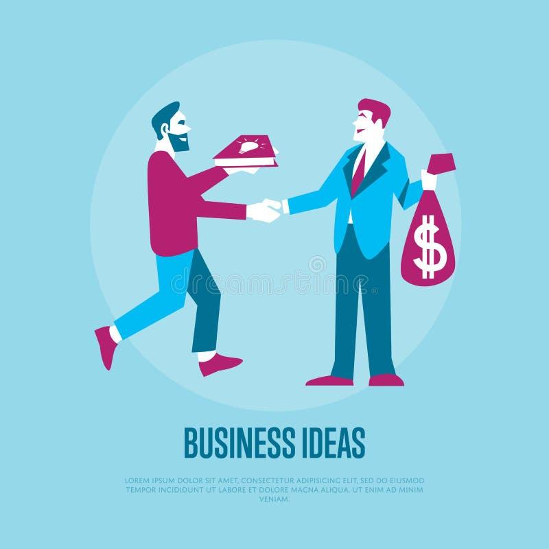 Ideias da troca ao dinheiro ilustração royalty free