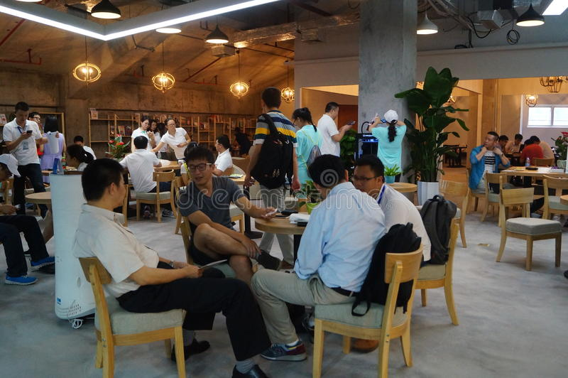 Ideias da troca na cafetaria fotografia de stock royalty free