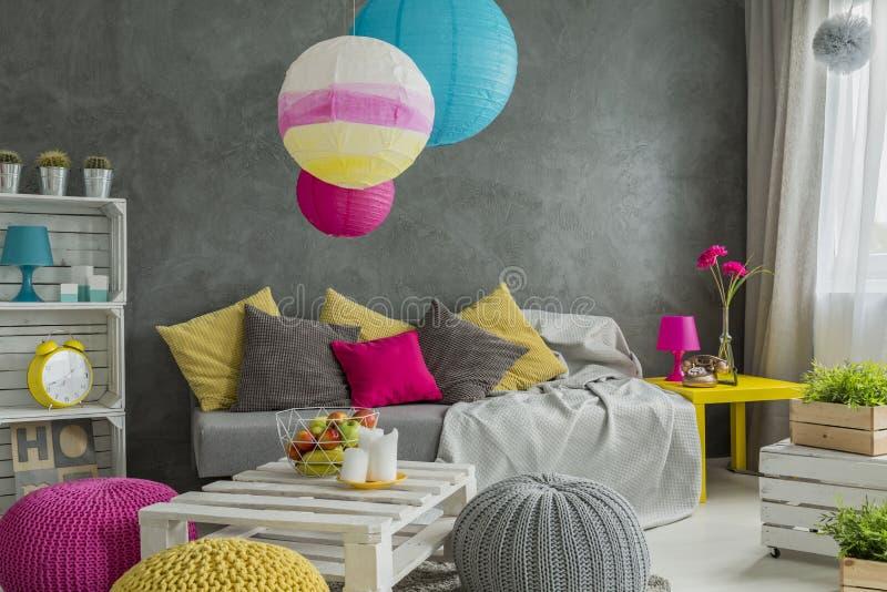 Ideias de decoração da sala fotografia de stock