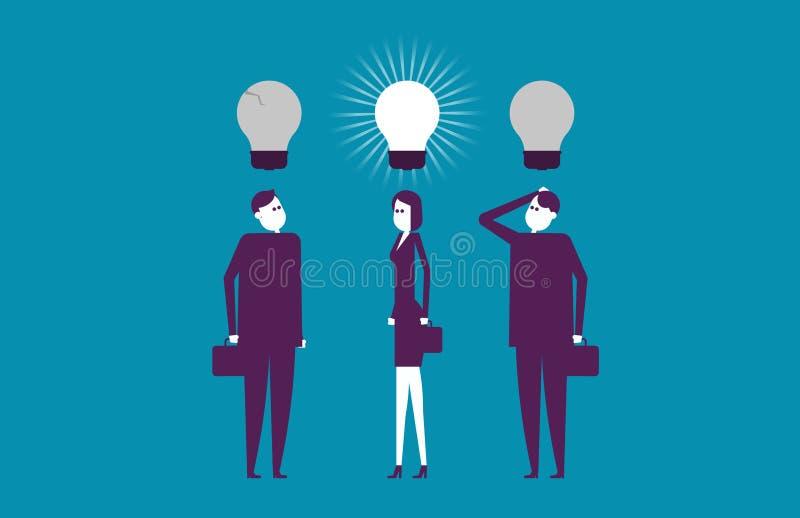 Ideias de pensamento do líder melhores Negócio do sucesso da ilustração do vetor imagem de stock royalty free