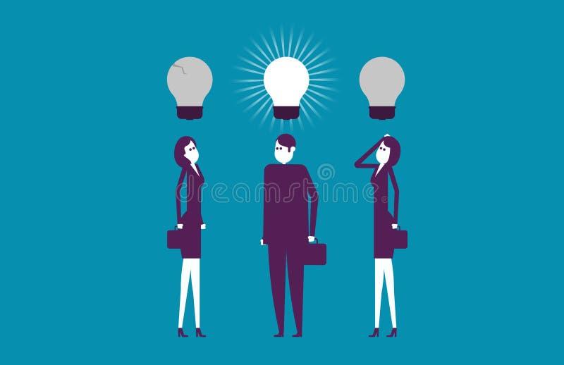 Ideias de pensamento do líder melhores Negócio do sucesso da ilustração do vetor foto de stock royalty free