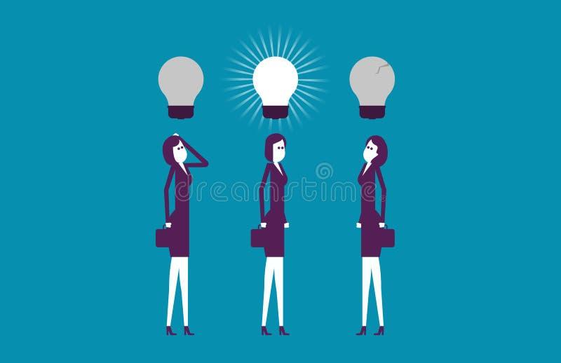 Ideias de pensamento do líder melhores Negócio do sucesso da ilustração do vetor fotos de stock