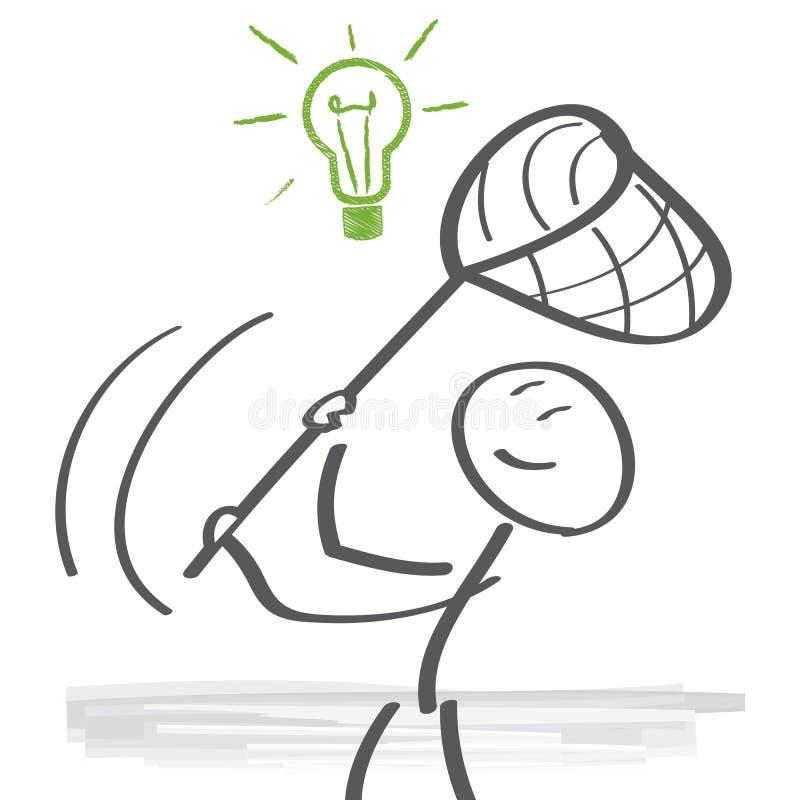 Ideias do achado ilustração do vetor