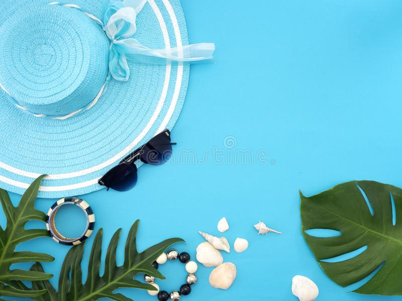 Ideias do curso do verão e objetos da praia fotos de stock