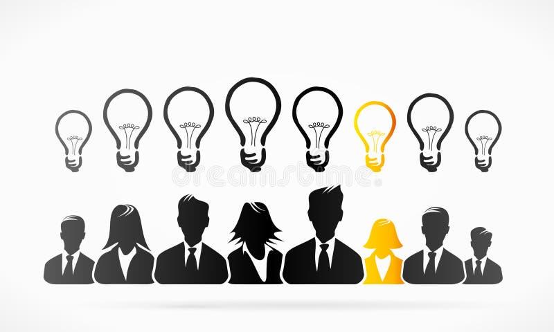 Ideias do grupo ilustração do vetor