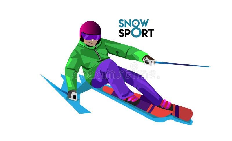 Ideias do logotipo do esporte da neve com vetor ilustração stock