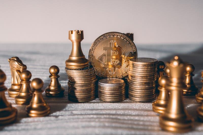 ideias do negócio e plano da competição e da estratégia imagem de stock