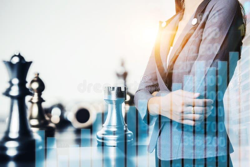 ideias do negócio e plano da competição e da estratégia imagem de stock royalty free