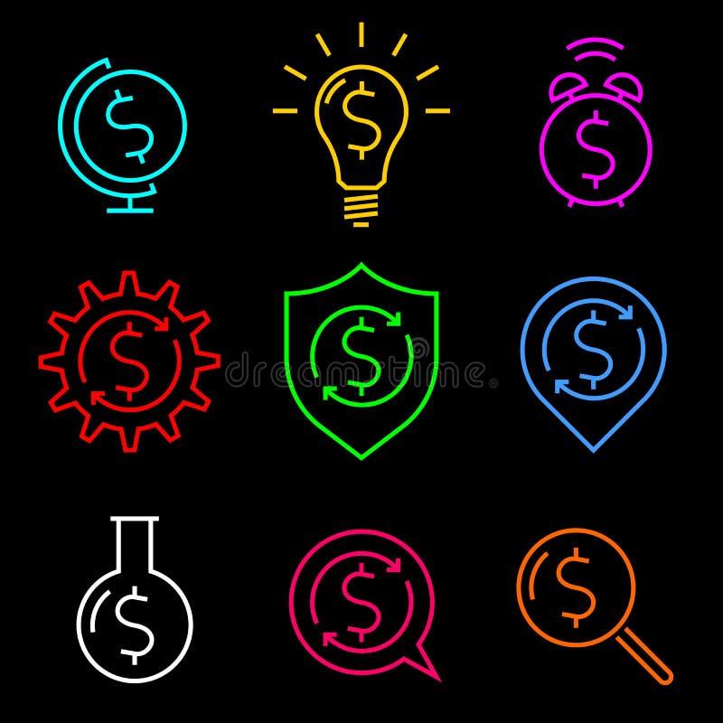 Ideias do sinal de dólar ilustração royalty free
