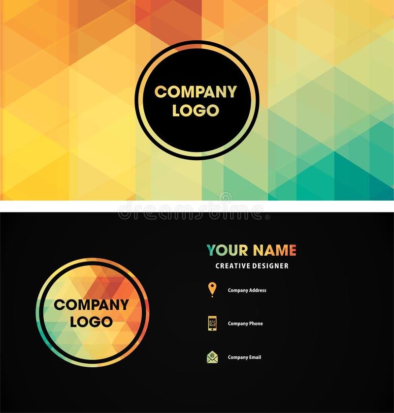 Ideias do teste padrão do logotipo do nome de cartão fotos de stock