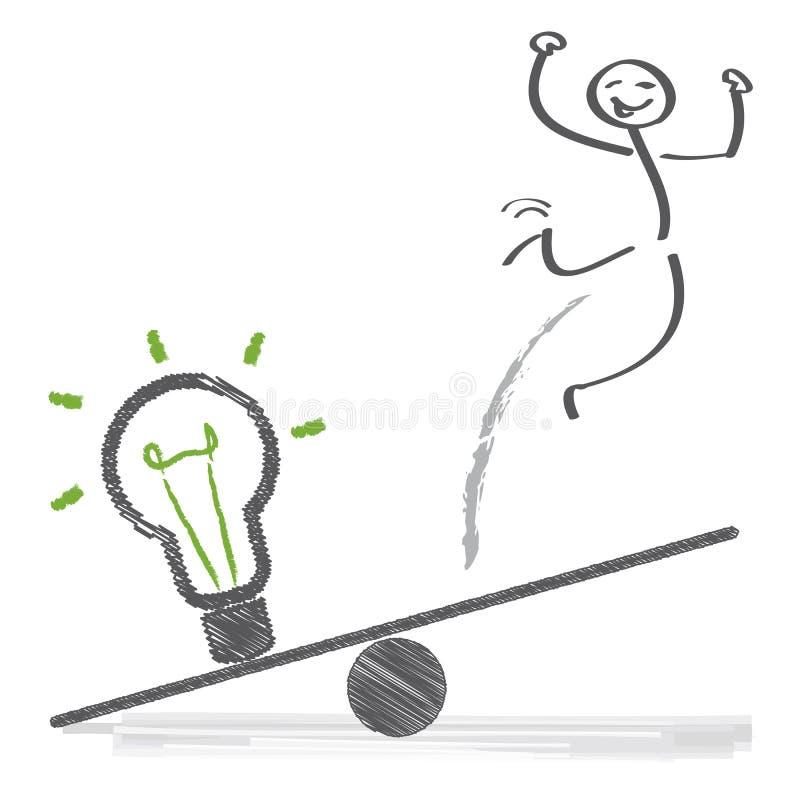 Ideias e sucesso ilustração stock