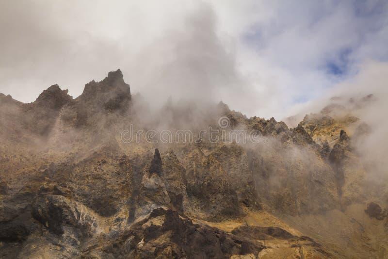 Ideias surpreendentes da paisagem vulcânica imagens de stock