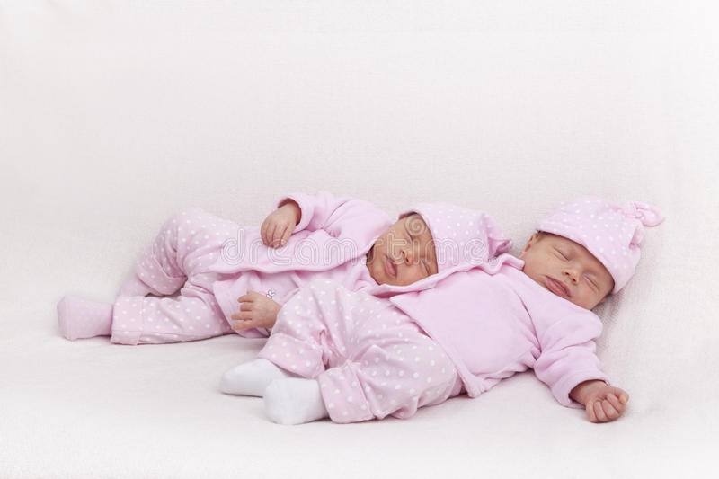 Identical Twin Sisters Royalty Free Stock Images