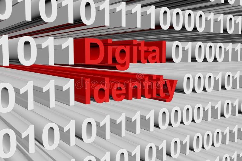 Identidad de Digitaces stock de ilustración