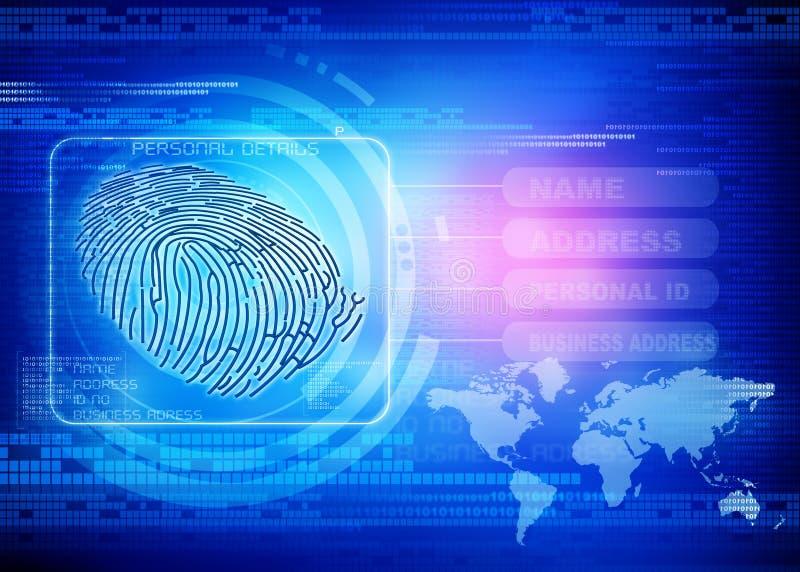 Identidad de la huella dactilar ilustración del vector
