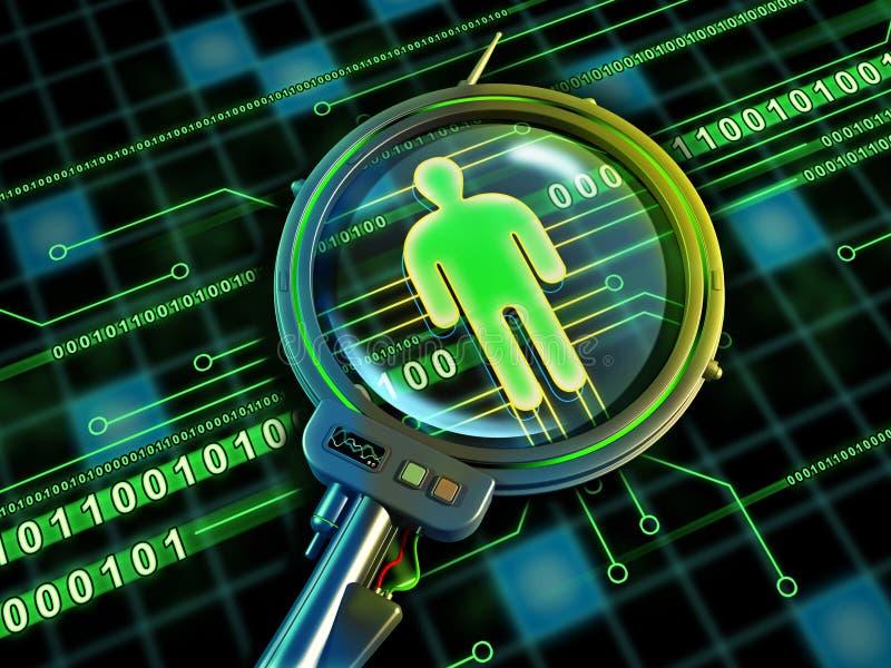 Identidad en línea ilustración del vector