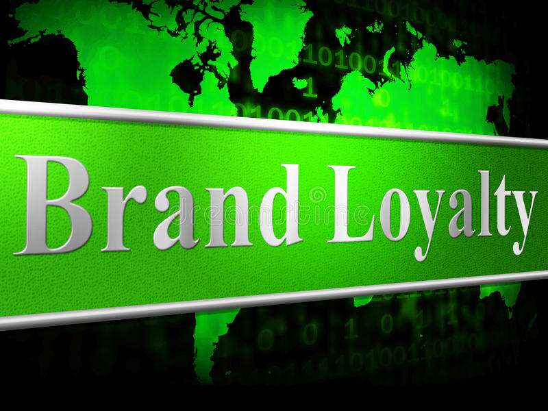 Identidad y ayuda de Loyalty Brand Means Company ilustración del vector