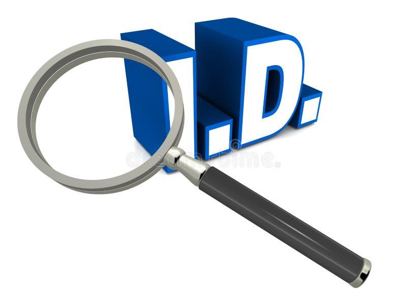 Identidade ilustração stock