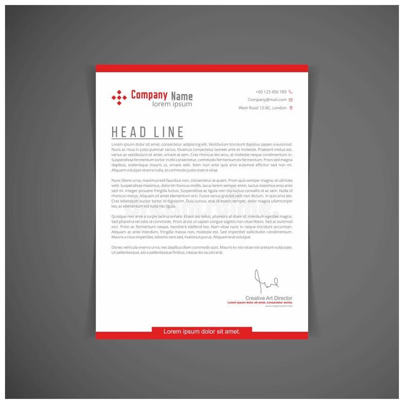 Identidade corporativa ajustada ou jogo para seu negócio Molde da letra ilustração do vetor