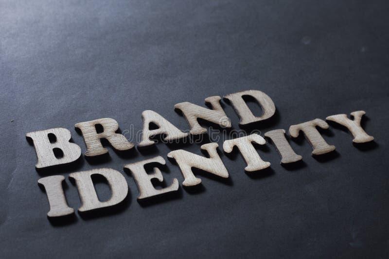 Identidade de marca Conceito de mercado da tipografia das palavras do neg?cio ilustração stock