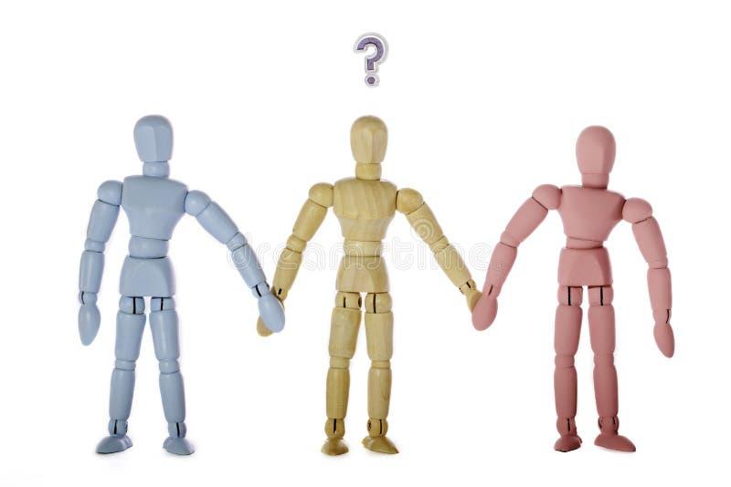 Identidade sexual, sexualidade, e gênero como estereótipos sociais fotos de stock royalty free