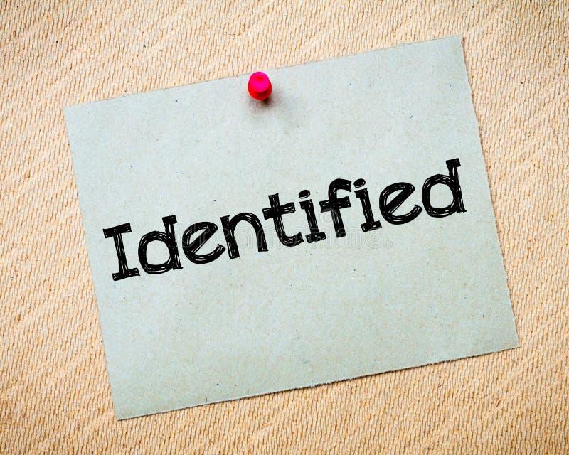 identifié photos libres de droits