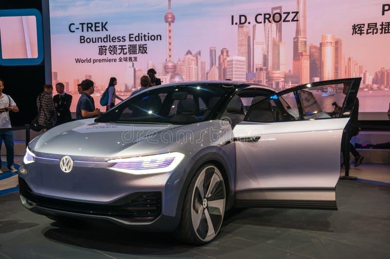 Identificação 2017 da VW da feira automóvel de Shanghai imagens de stock