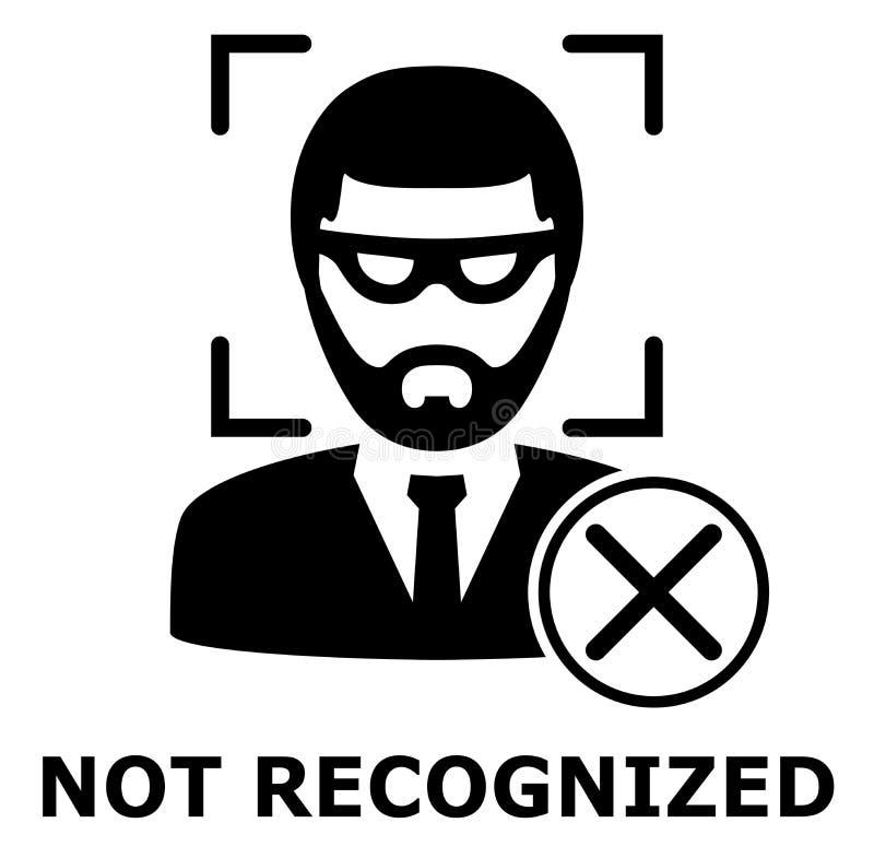Identificação de Biometrical Reconhecimento de cara Ícone simples ilustração do vetor