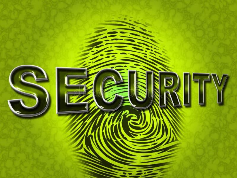 Identificação de Segurança Impressão digital Indicação Empresa e tipo ilustração royalty free