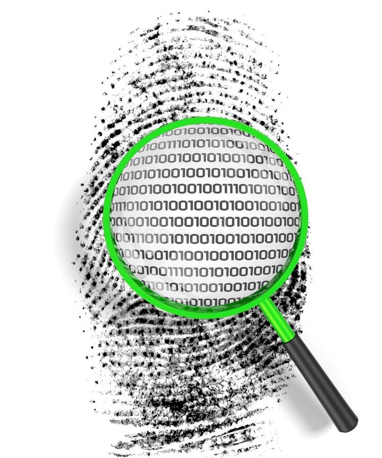 Identificação do código de barra ilustração do vetor