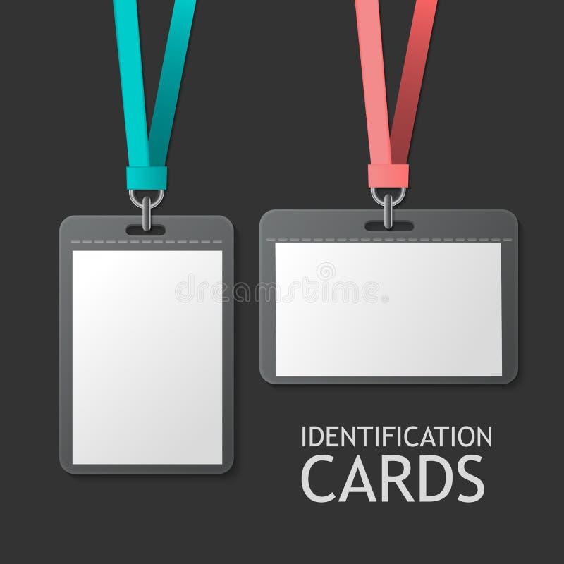 Identificação do crachá, cartões plásticos da identificação ilustração do vetor