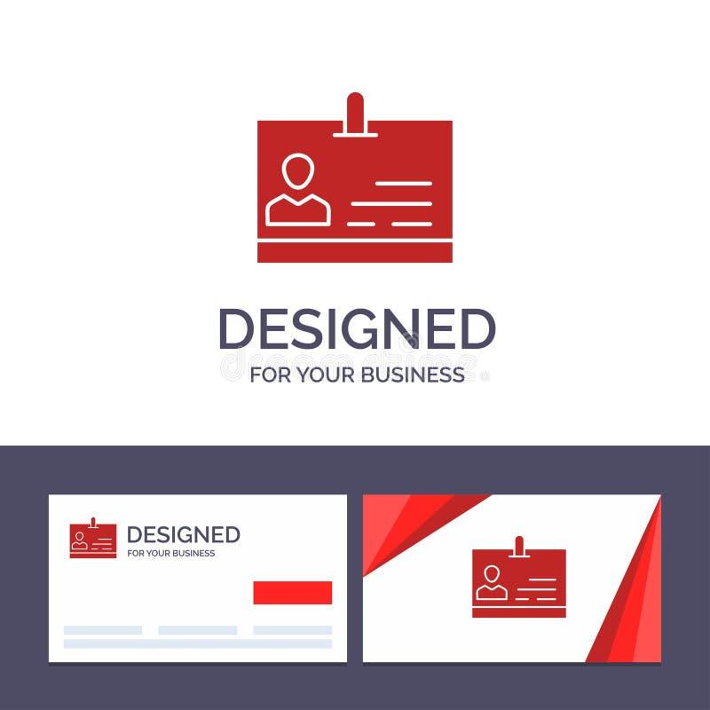 Identificação do molde criativo do cartão e do logotipo, cartão, identidade, ilustração do vetor do crachá ilustração royalty free