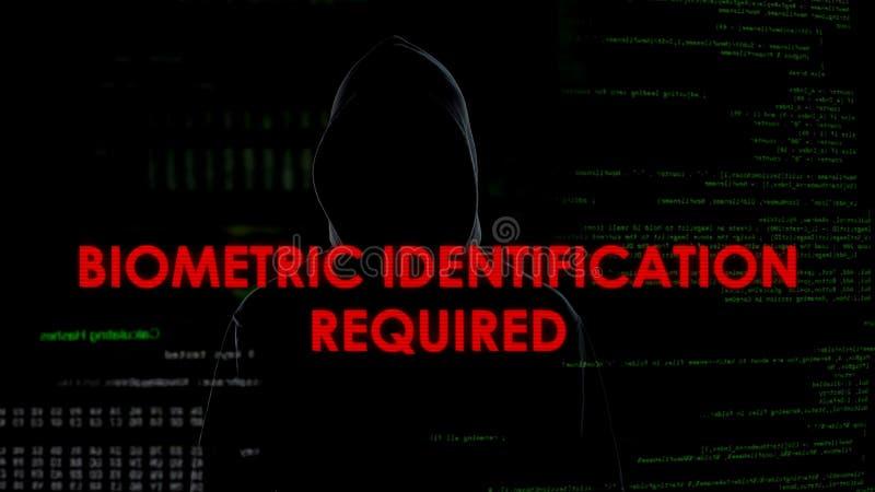 Identificación biométrica requerida, tentativa que corta fracasada en cuenta fotos de archivo