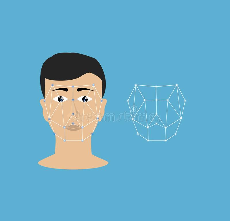 Identificación de la cara ilustración del vector